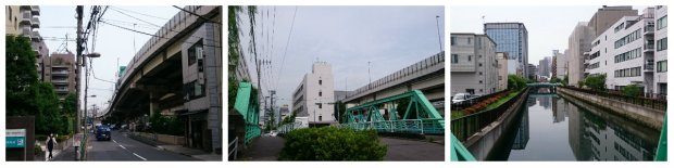 keep on walking on the left side of the flyover, you'll meet the green bridge with slightly romantic view