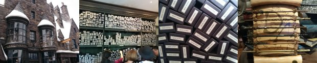 Ollivanders and all the wands that you can try and buy