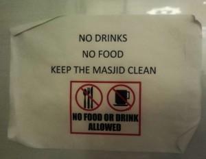 Assalaam Mosque - No food
